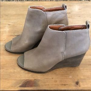 Lucky Brand peep toe boots